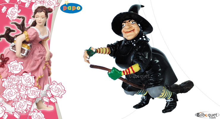 Witch with broomstick Papo