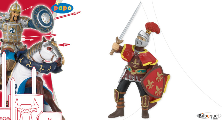 Paladin with feather red Papo
