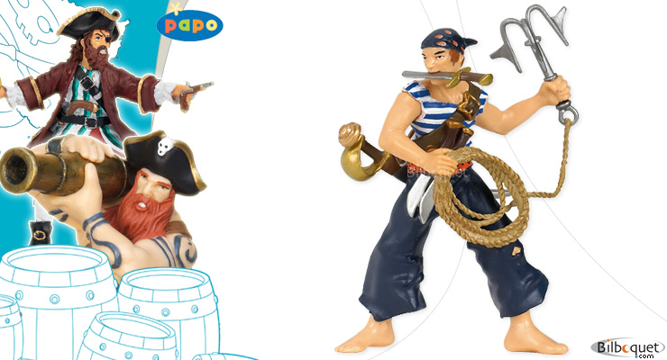 Pirate with grapnel Papo