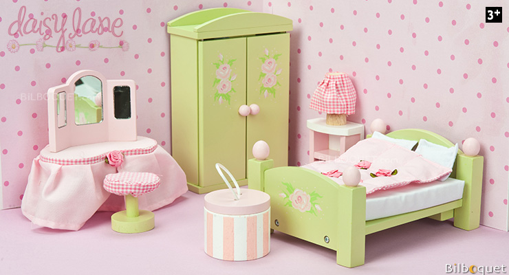 Daisylane Master Bedroom - Furniture for Dollhouses Le Toy Van