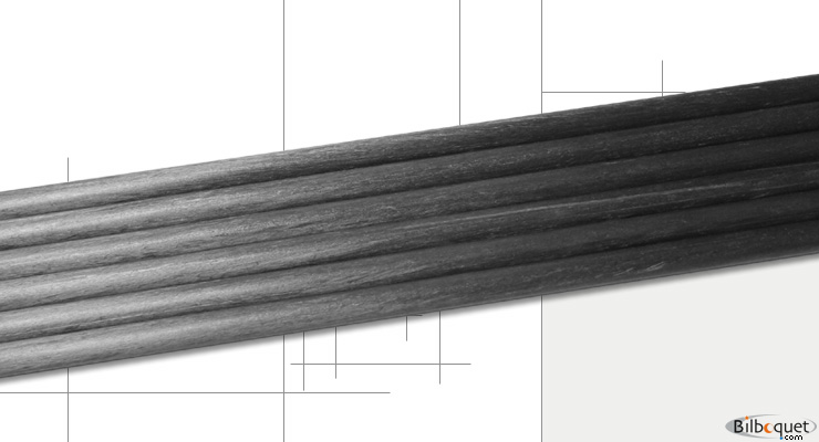 Carbone cylindrique Ø 6,0mm/125cm Structil Carbon tubes