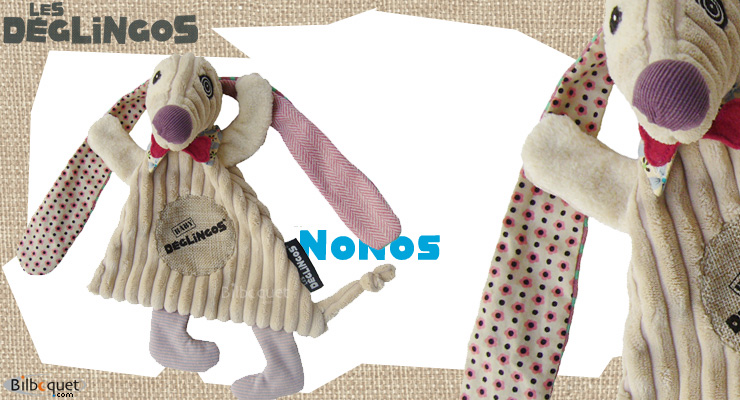 Nonos the Dog, comforter 22cm Déglingos