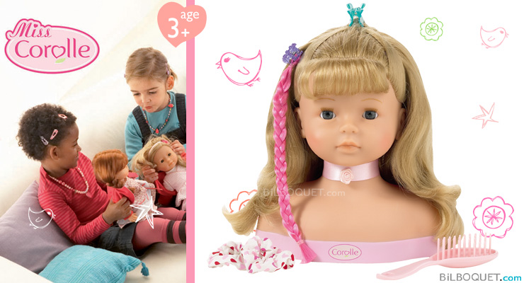 Hairstyling Head and accessories Corolle