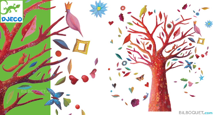 Stickers The poem tree Little Big Room by Djeco