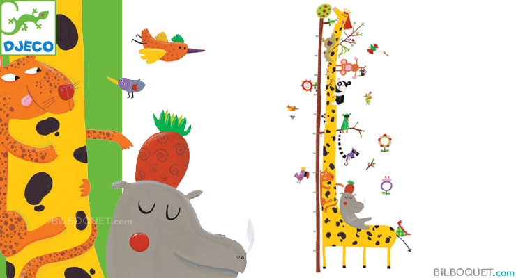 Stickers Height chart Friend of the Amazon Little Big Room by Djeco