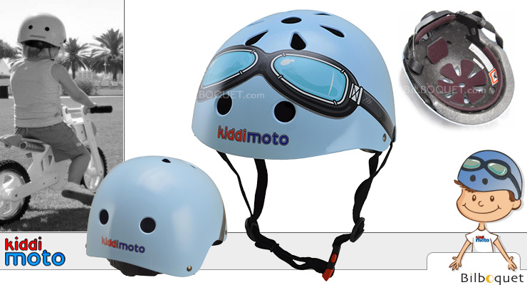 Helmet Blue Goggles size 48-52cm (2-6 year old) Kiddimoto