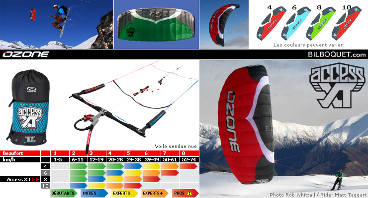Access XT 2011 De-Power Kite 8m complete Ozone