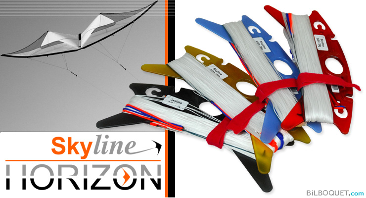 Skyline kite lines (on winder, ready to fly) 55kg 2x35m Skyline