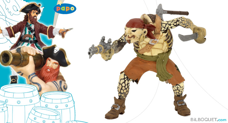 Turtle Mutant Pirate Papo