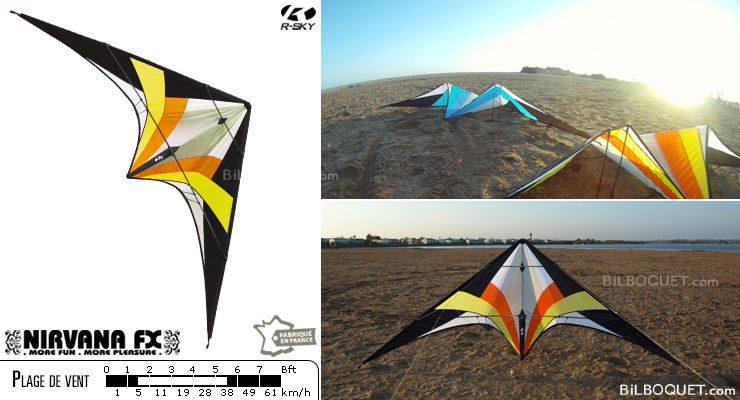 NFX SPORT - Nirvana FX Sport Indian (yellow-red) R-SKY kites