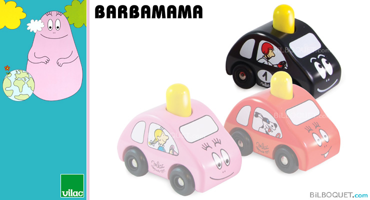 Mini Barbapapa car black Barbamama Vilac