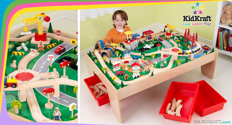 Waterfall Mountain Train Table and Set (120 pieces) KidKraft