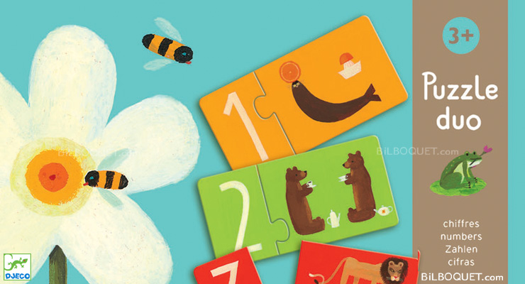Numbers duo puzzle Djeco