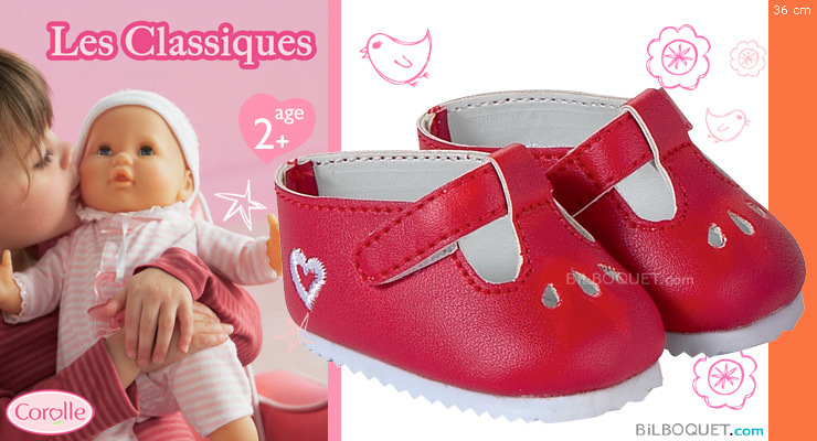 Red shoes 36 cm Corolle