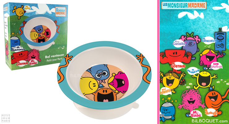 Mr Men bowl with suction pad Petit Jour