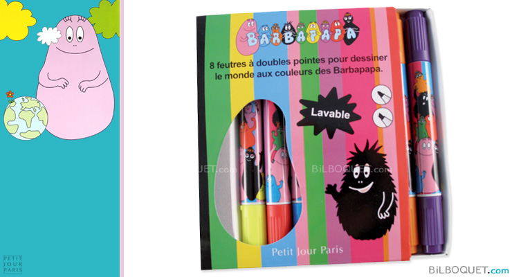 Set of 8 Barbapapa double ended felt pens Petit Jour