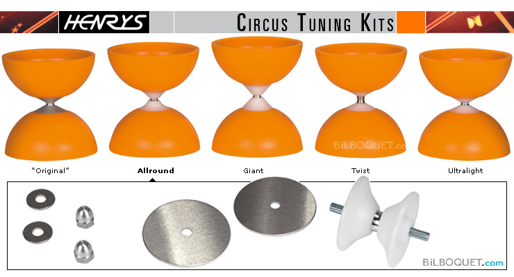 Diabolo Tuning-Set Allround for Circus Diabolo Henry's