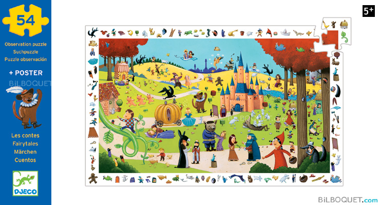 Observation Puzzle Fairytales 54 pieces Djeco