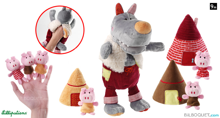 Hand Puppet Wolf and the 3 Little Pigs Lilliputiens