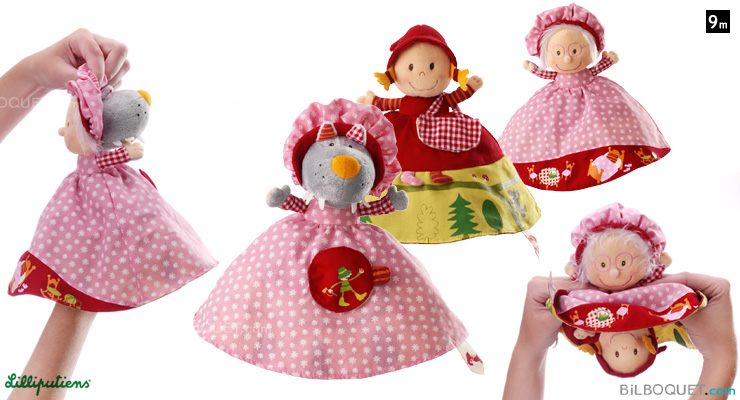 Little Red Riding Hood reversible Puppet Lilliputiens