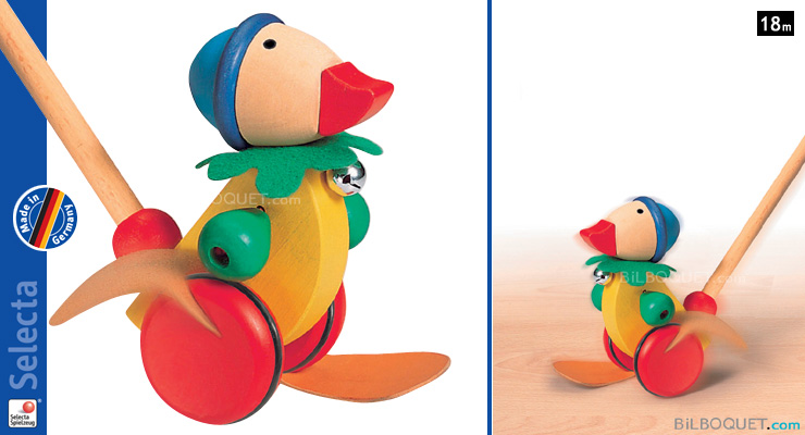 Pedella Duck Push Toy Selecta