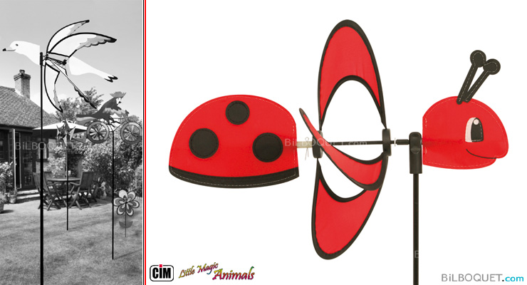 Eolienne Little Magic Ladybird 85 cm Colours in Motion
