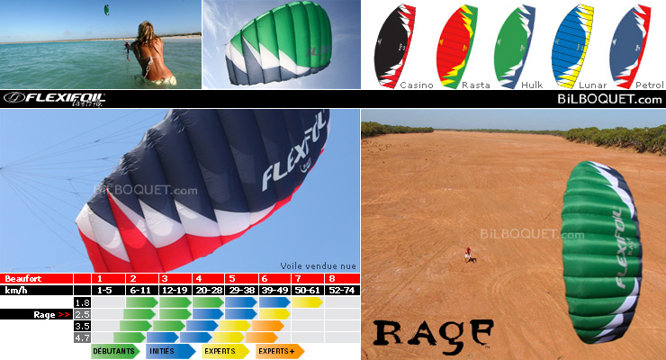 Rage 2.5m² - Kite only - Hulk Flexifoil