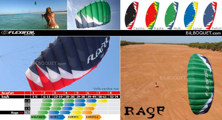 Rage 4.7m² - Kite only - Rasta Flexifoil