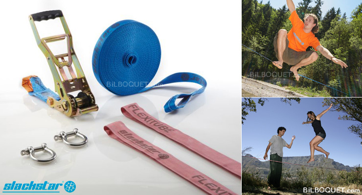 Slackstar Slackline Super Flight niveau avancé 35mm/15m