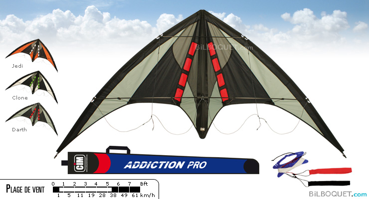 Addiction Pro Stunt Kite darth Colours in Motion