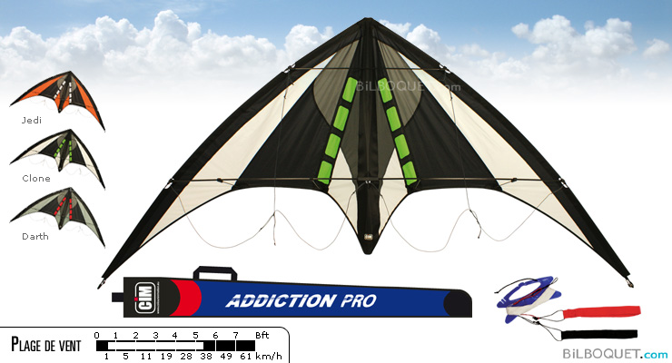 Addiction Pro Stunt Kite clone Colours in Motion