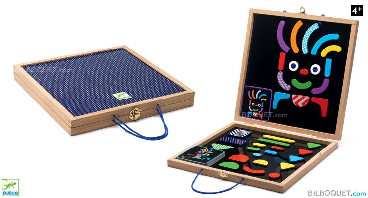 Geocharacter Wooden box with 35 magnets + 20 cards Djeco