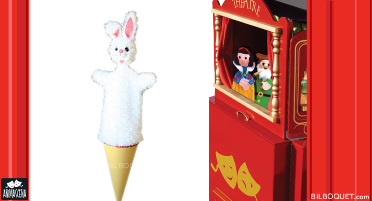 White Rabbit Cone Puppet Anima Scena