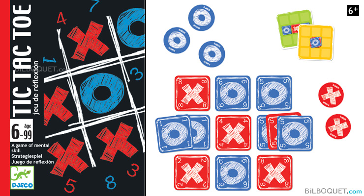 Tic tac toe Card game Djeco