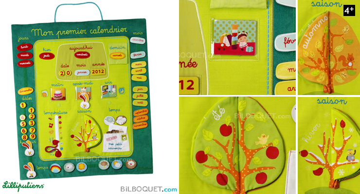 My first calendar Educational toy Lilliputiens