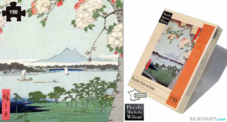 Apple trees in flowers (Utagawa Hiroshige) Wooden Puzzle 150 pieces Puzzle Michèle Wilson