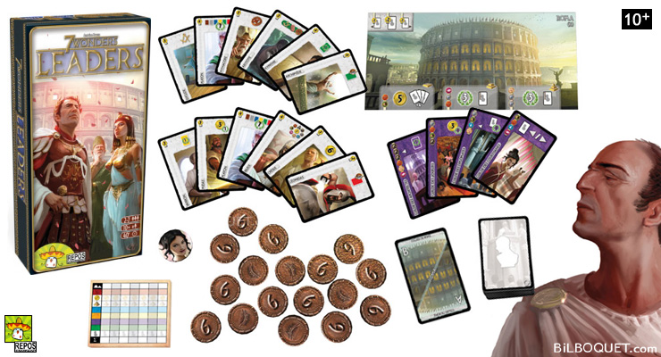 7 Wonders Leaders Extension pour le jeu 7 Wonders Repos Production