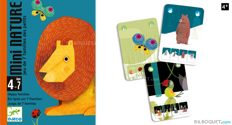 Mini Nature - Happy families Game (cards) Djeco
