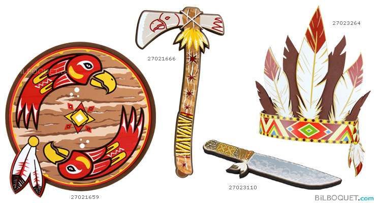 Indian shield - Foam Costumes and Accessories Le Coin Des Enfants