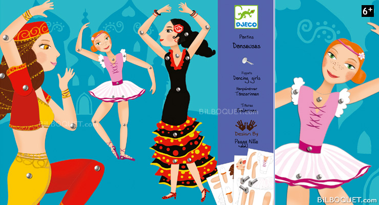 Paper Puppets Dancing Girls Design by Peggy Nille Djeco