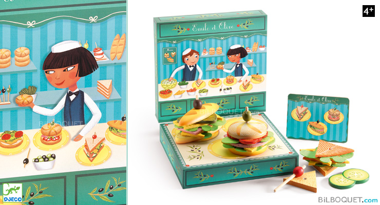 Emile and Olive - The wooden sandwich vendor Djeco