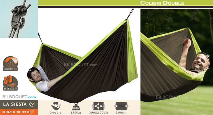 Colibri Double Travel Hammock green La Siesta Hammocks
