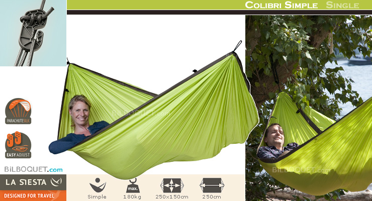 Colibri Single Travel Hammock green La Siesta Hammocks