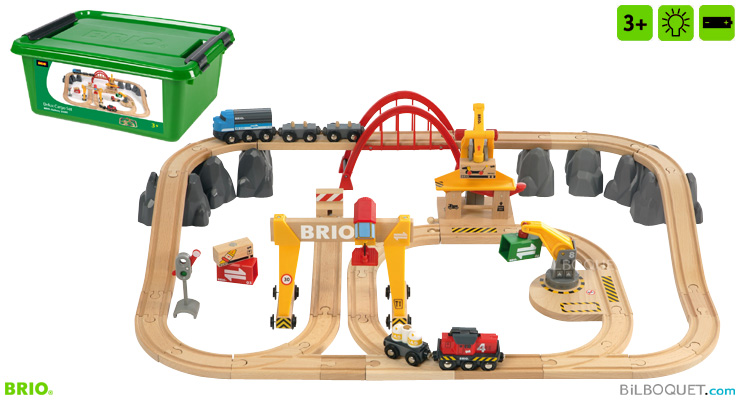 Cargo Railway Deluxe Set (54 pieces) BRIO