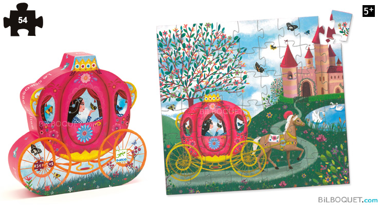Silhouette Puzzle Elise's Carriage 54 pieces Djeco