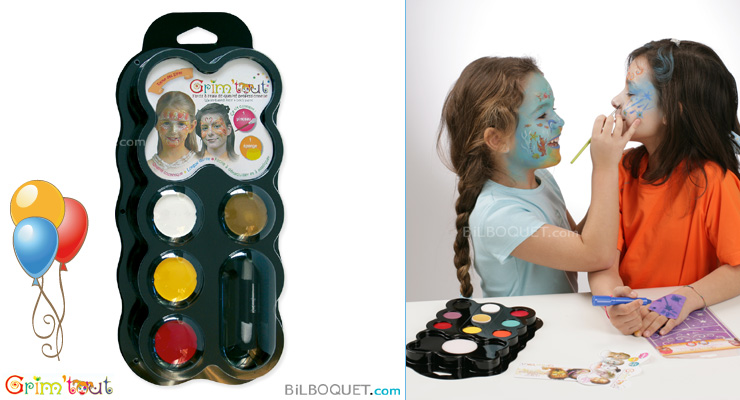 Water-base face and body paint 4 colours Queen of the Elves Grim'tout