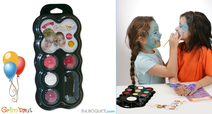 Water-base face and body paint 4 colours Butterfly Fairy Grim'tout