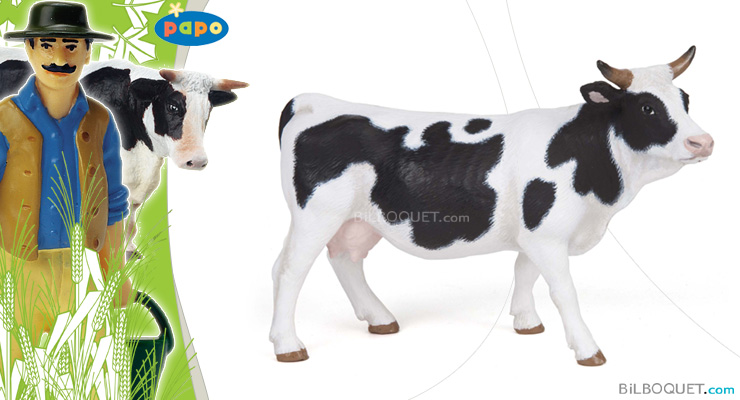 Black and White Cow Papo