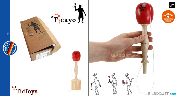 Ticayo Wooden Game of skill - Red TicToys