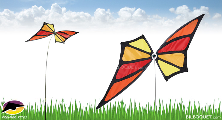 Monarch Butterfly Spinner on pole Premier Kites & Designs